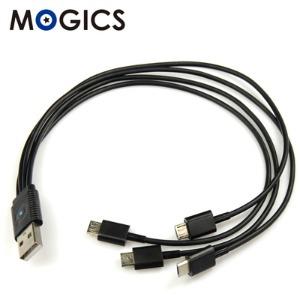 [豐] 【MOGICS】UCX4-B 一對四 充電線(黑色)